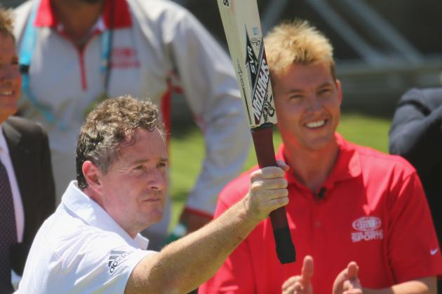 Piers Morgan Endures Barrage of Bouncers from Brett Lee, Twitter Reaction