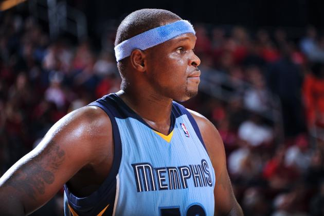 Zach Randolph: 'It Was a Horrible Game They Reffed Tonight, Awful'