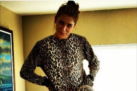 Alex Morgan Dressed Up in a Leopard Onesie for Christmas