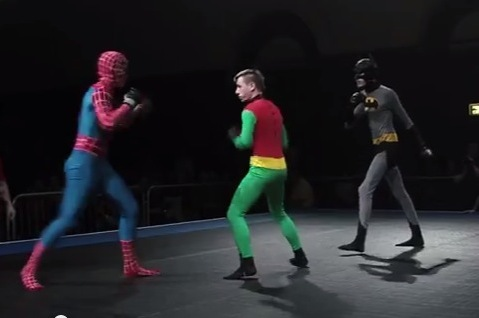 Superheroes Battle in MMA Fight