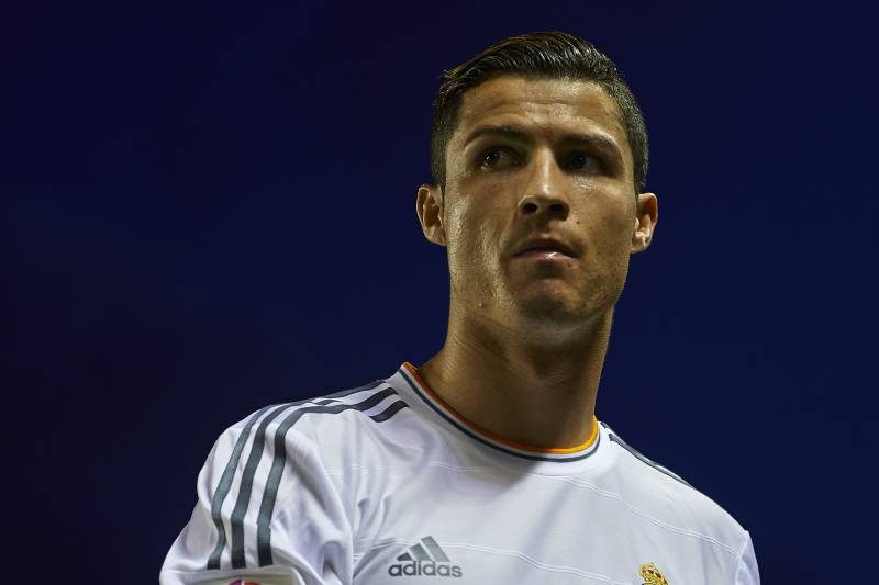 Cristiano ronaldos 2013 in review madrid stars journey to the valencia spain october 05 cristiano ronaldo of real madrid looks on during the voltagebd Gallery