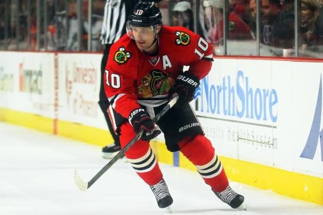 Sharp Becomes 1st Blackhawk to Score Hat Trick on B-Day