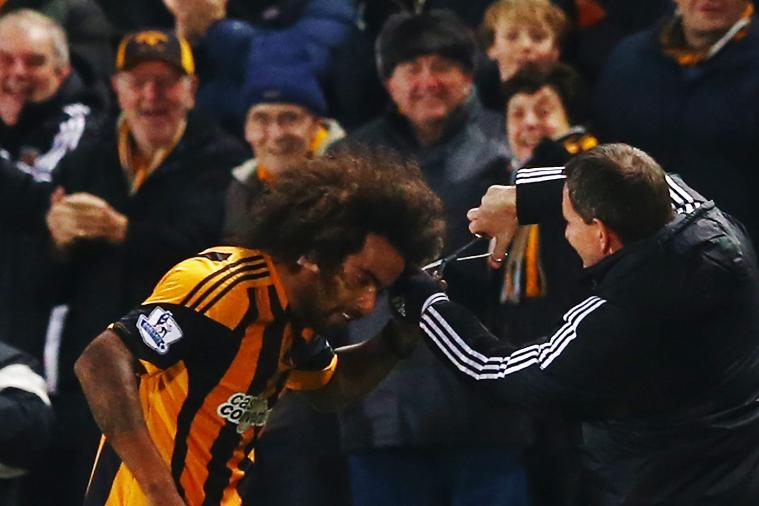 Tom Huddlestone Does Afro Haircut Celebration After Ending Goal Drought for Hull