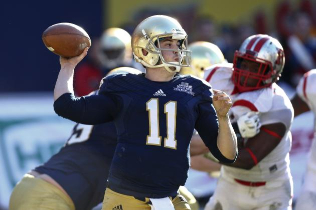 Pinstripe Bowl 2013: Grading Tommy Rees' Final Performance at Notre Dame