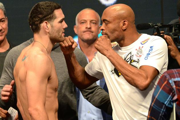 UFC 168 Live Results, Play-by-Play and Fight Card Highlights