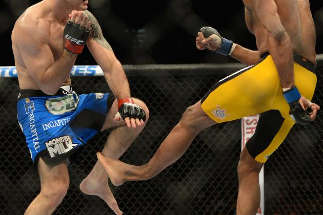 Photo: The Moment Silva Breaks His Leg on Weidman's Shin at UFC 168