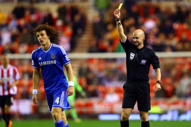 David Luiz Yellow Card: How Chelsea Will Cope in Star's Absence