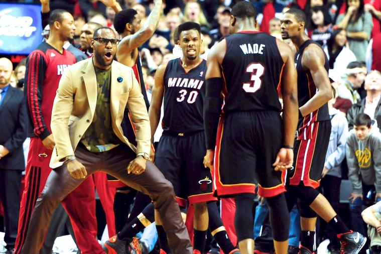 LeBron James Goes Wild After Chris Bosh Hits Game-Winner, Videobomb Included