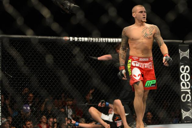 UFC 168: Dustin Poirier Says Diego Brandao 'Threatened to Cut My Neck'
