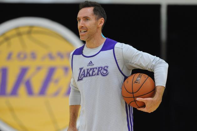 Steve Nash Participates in Shooting Drills After Morning Shootaround