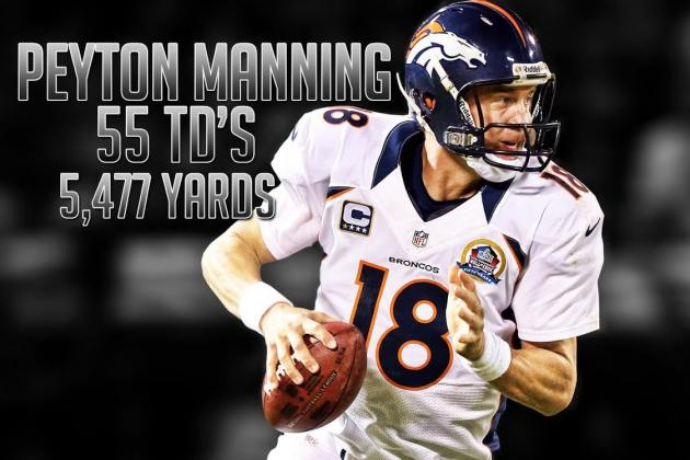 Peyton Manning Passes Drew Brees for Most Passing Yards in a Single Season
