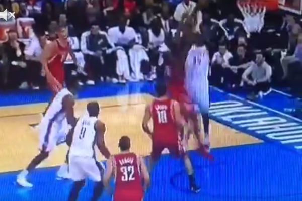 Kevin Durant Dunking All over Rockets, Including Ex-Teammate James Harden
