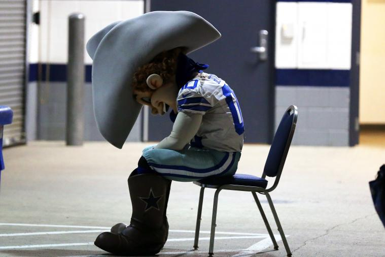 This Picture of the Cowboys Mascot Perfectly Captures How Dallas Fans Must Feel