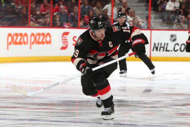 Jason Spezza and Alternate Chris Phillips Will Be out of Action Against Capitals