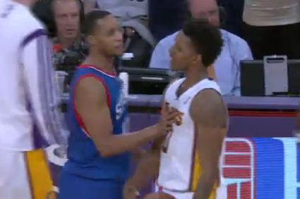Evan Turner Shows Up LA Lakers with Reverse Dunk, Upsets Nick Young