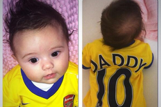 Jack Wilshere Gets Cute Personalised Arsenal Shirt for Daughter
