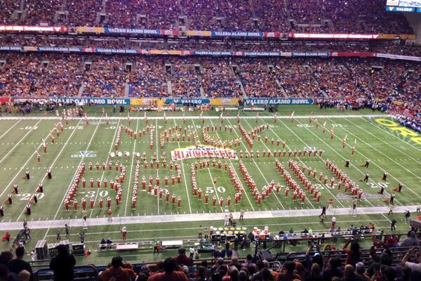 Texas Longhorns Band Pays Tribute to Mack Brown at Alamo Bowl
