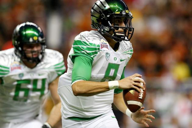 Alamo Bowl 2013: Rushing Marcus Mariota Is High-Stakes Game for Oregon