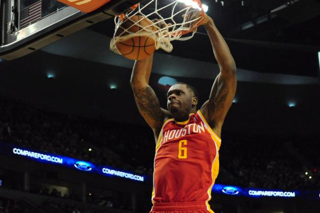 Terrence Jones Jams Powerful Putback Dunk, Flexes