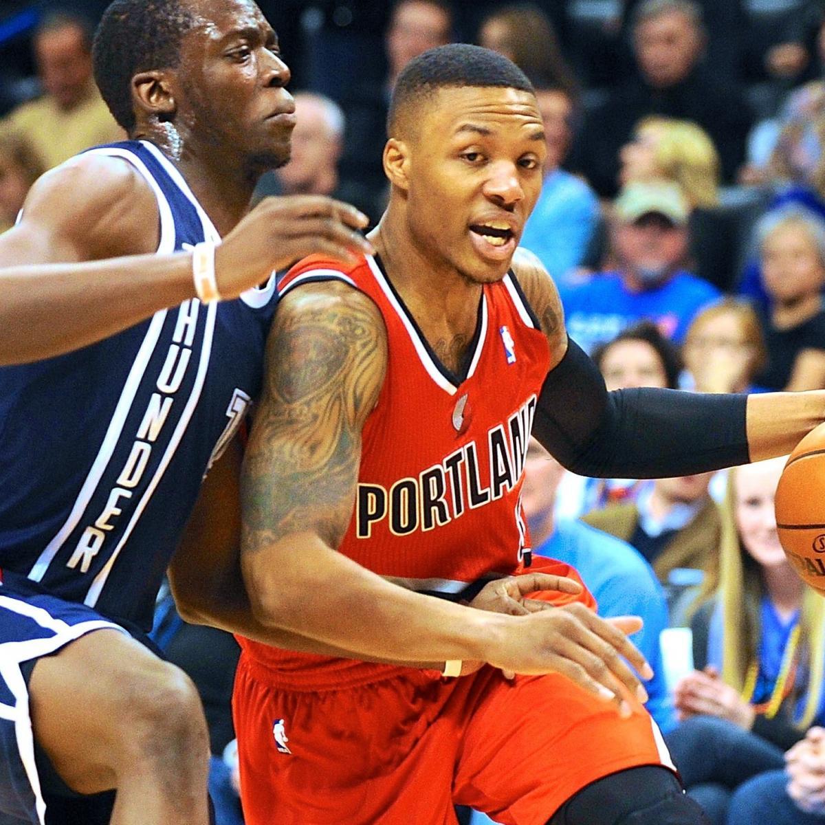 Blazers Score: Portland Trail Blazers Vs. Oklahoma City Thunder: Live