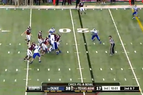 Johnny Manziel Throws Incredible Touchdown to Travis Labhart in Chick-fil-A Bowl