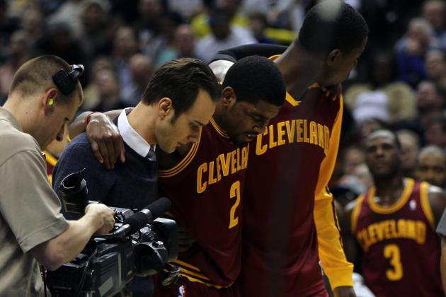 Kyrie Irving's Pending MRI Results May Decide Andrew Bynum-Pau Gasol Trade