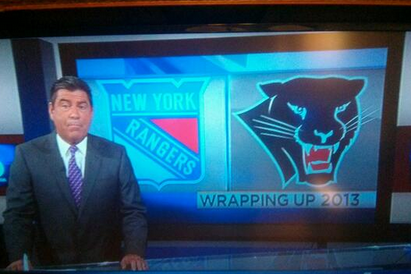 PHOTO: Miami TV Station Botches Florida Panthers' Logo