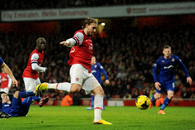 Arsenal vs. Cardiff: Nicklas Bendtner Shows He Can Play the Olivier Giroud Role