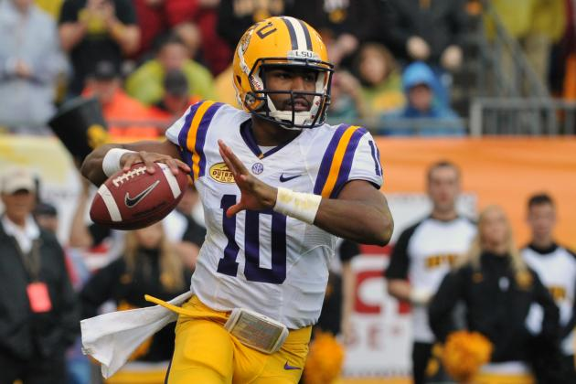 Outback Bowl 2014: LSU's Offense Is a Work-in-Progress Without Zach Mettenberger