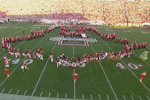 Stanford Band Forms 'Snapchat' Logo During Rose Bowl Halftime Show