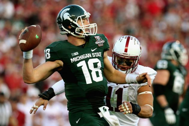 Rose Bowl Performance Has Connor Cook Poised to Be Big Ten's Best QB in 2014