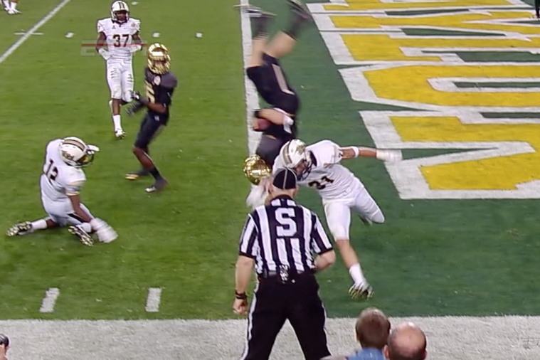 Baylor's Bryce Petty Gets Flipped into End Zone on 13-Yard TD Run