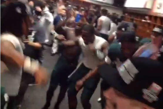 "Video: Michigan State Players Dance to ""This Is How We Do It"" in Locker Room"