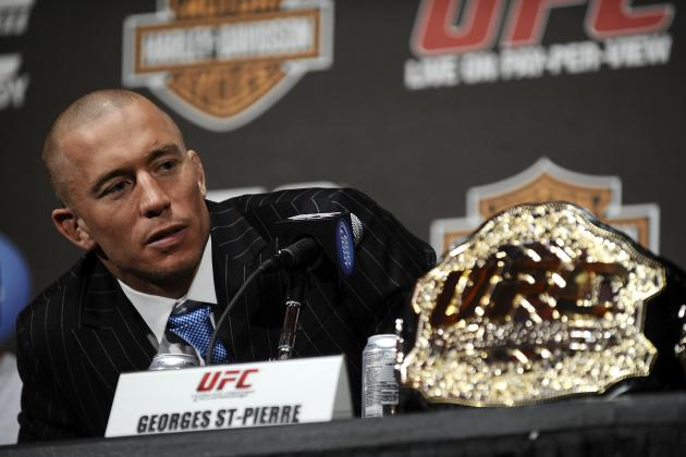Georges St-Pierre Said Belt Was Taken After UFC 167 Bout with Johny Hendricks