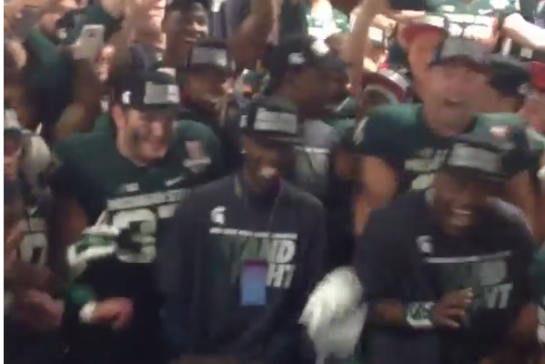 Michigan State Celebrates Rose Bowl Win by Dancing in Locker Room