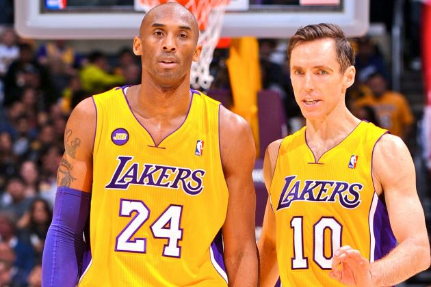 Kobe Bryant and Steve Nash Caught in Middle of LA Lakers' Tanking Quandary
