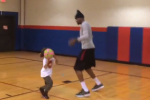 Watch: KD Doesn't Take It Easy on Young Niece