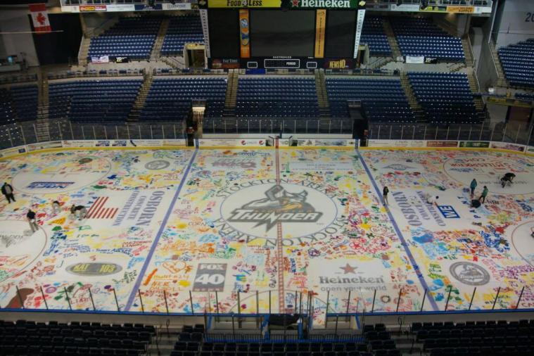 Stockton AA Hockey Team Will Play on Ice Painted by Fans for a Promotion