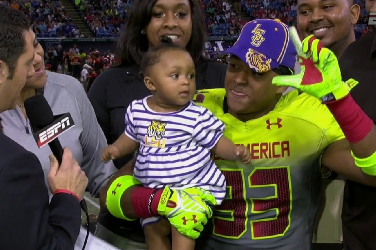 Jamal Adams Uses a Baby to Announce Commitment to LSU