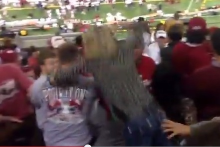 Bama Fan Goes Berserk on OU Fan
