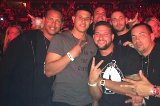 Alex Rodriguez and Manny Machado Have Guys' Night out at Jay-Z Concert