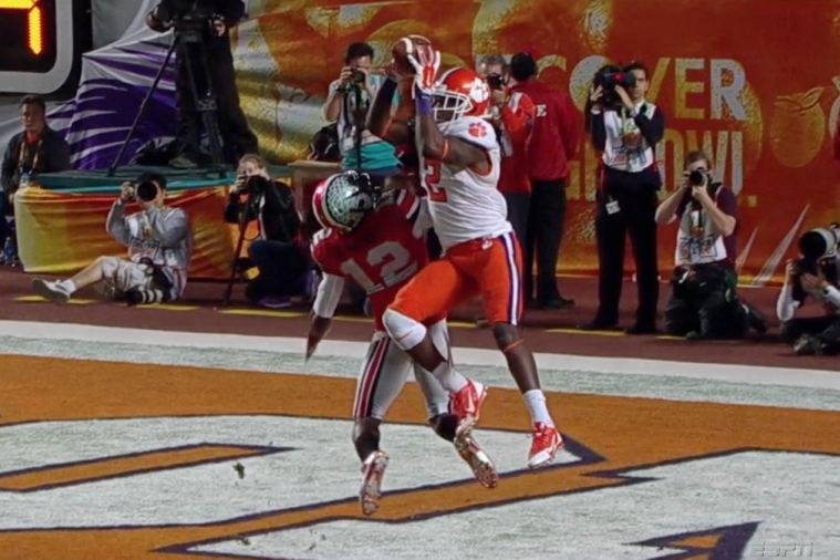 Sammy Watkins Hauls in Crazy Touchdown Pass in Orange Bowl