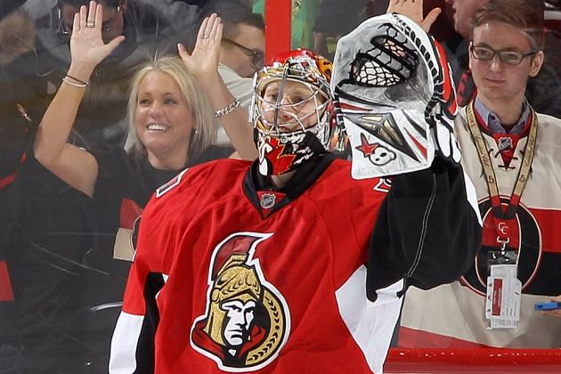 Ottawa Senators Goalie Craig Anderson Moving Up Wins List