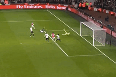 GIF: Santi Cazorla Scores for Arsenal vs. Tottenham in FA Cup