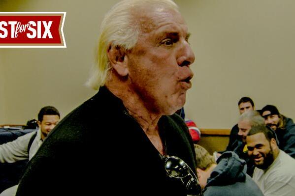 Pro Wrestling Legend Ric Flair Spoke to the 49ers Before Their Wild Card Game