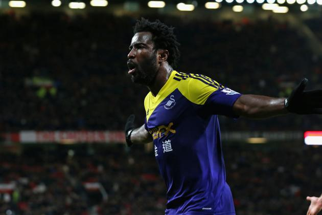 Wilfried Bony's Goal for Swansea That Sent Manchester United out of the FA Cup
