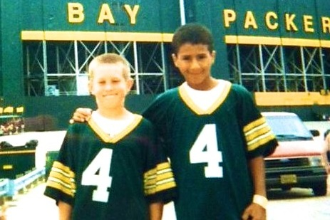 Young Colin Kaepernick Went to Lambeau Field in Packers Jersey
