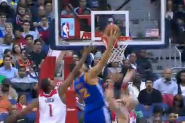 Andrew Bogut Throws Down Off-the-Backboard Alley-Oop from Stephen Curry