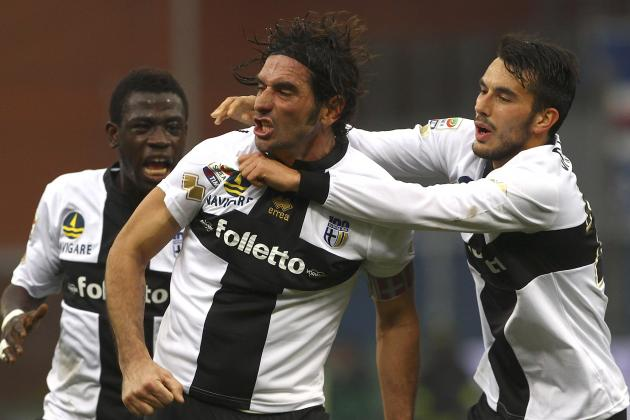 Alessandro Lucarelli Scores Outrageous Backheel Flick Goal from Corner for Parma