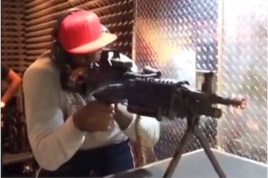 LeBron James Brings in the New Year by Shooting Machine Guns